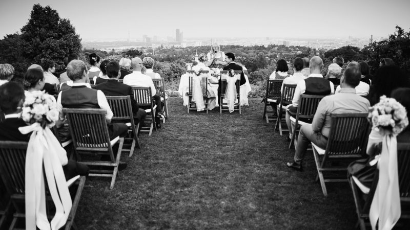 Stunning wedding with a view over the Vienna